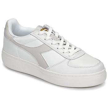 Chaussures Femme Baskets basses Diadora B ELITE WIDE Blanc / Taupe