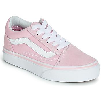 Scarpe Bambina Sneakers basse Vans OLD SKOOL Rosa