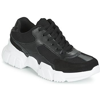 Chaussures Femme Baskets basses Yurban JILIBELLE Noir / Blanc