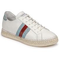 Chaussures Femme Baskets basses Pataugas MARBELLA Blanc / Rouge / Bleu