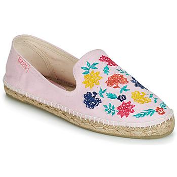 Schuhe Damen Leinen-Pantoletten mit gefloch Banana Moon IASMIN Beige