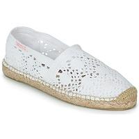 Schuhe Damen Leinen-Pantoletten mit gefloch Banana Moon NIWI Weiss