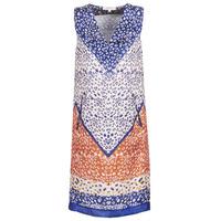 Kleidung Damen Kurze Kleider Derhy FORTERESSE Weiß / Blau / Orange