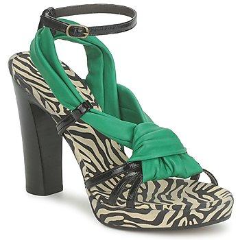 Schuhe Damen Sandalen / Sandaletten Michel Perry 12709 Smaragd