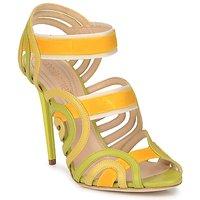 Schuhe Damen Sandalen / Sandaletten Roberto Cavalli RPS691 Grün / Gelb