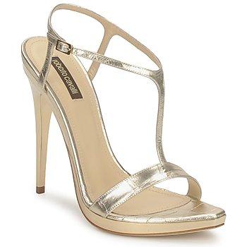 Schuhe Damen Sandalen / Sandaletten Roberto Cavalli RDS736 Gold