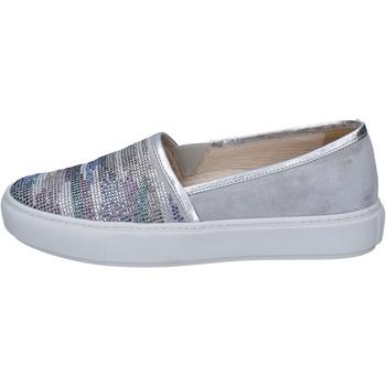Chaussures Femme Slip ons Janet Sport slip on gris daim argent strass BT420 gris