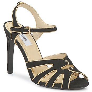 Schuhe Damen Sandalen / Sandaletten Moschino MA1604 000-schwarz