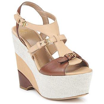 Schuhe Damen Sandalen / Sandaletten Moschino Cheap & CHIC STERLIZIA Beige-braun