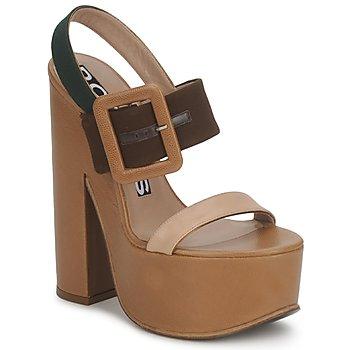 Schuhe Damen Sandalen / Sandaletten Rochas RO18231 Braun / Beige