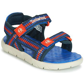Schuhe Kinder Sandalen / Sandaletten Timberland PERKINS ROW WEBBING SNDL Blau
