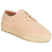 Schuhe Damen Leinen-Pantoletten mit gefloch Betty London JAKIKO Rose