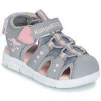 Scarpe Bambina Sandali Kangaroos K-MINI Grigio / Rosa