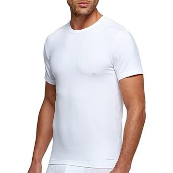 Vêtements Homme T-shirts manches courtes Impetus T-shirt col rond tricot de peau blanc homme Blanc