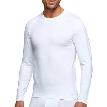 Vêtements Homme T-shirts manches longues Impetus Tricot de peau col rond manches longues blanc homme Blanc
