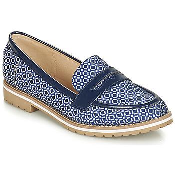 Schuhe Damen Slipper André PORTLAND Blau