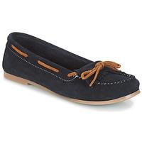 Schuhe Damen Slipper André REE Blau