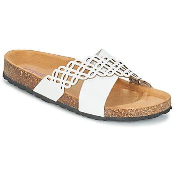 Schuhe Damen Pantoffel André ROULADE Weiss