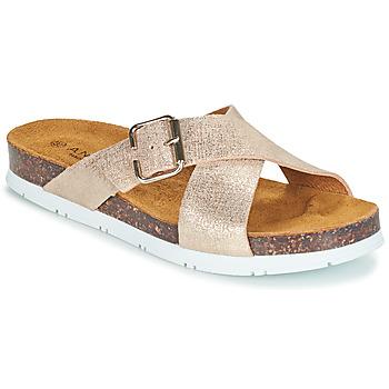 Schuhe Damen Pantoffel André RICKA Golden