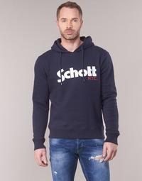 Abbigliamento Uomo Felpe Schott HOOD Marine