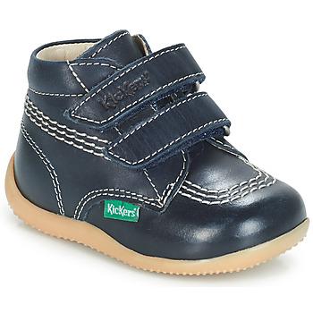 Schuhe Jungen Boots Kickers BILLY VELK Marineblau
