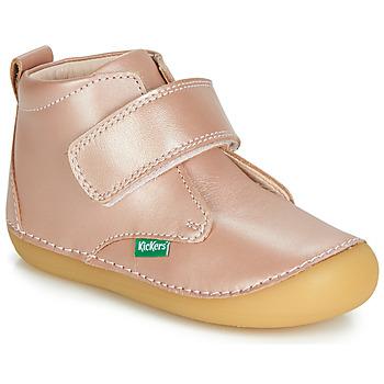 Scarpe Bambina Stivaletti Kickers SABIO Rosa