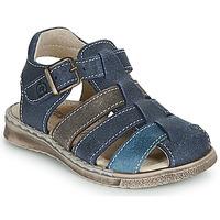 Schuhe Jungen Sandalen / Sandaletten Citrouille et Compagnie ZIDOU Marineblau / Grau