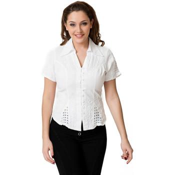 Vêtements Femme Chemises / Chemisiers La Cotonniere CHEMISIER CINTRE Blanc