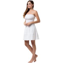 Vêtements Femme Robes courtes La Cotonniere ROBE COURTE SHIRLEY Blanc