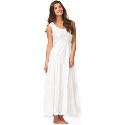 Vêtements Femme Robes longues La Cotonniere ROBE LONGUE GRETA Blanc