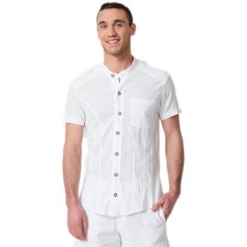 Vêtements Homme Chemises manches courtes La Cotonniere CHEMISE BILBAO Blanc