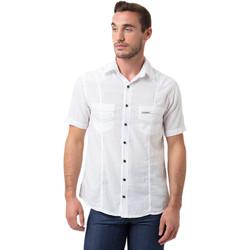 Vêtements Homme Chemises manches courtes La Cotonniere CHEMISE BARCELONE Blanc