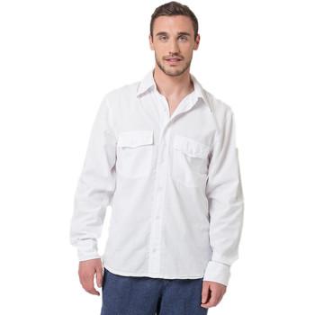 Vêtements Homme Chemises manches longues La Cotonniere CHEMISE SYDNEY Blanc
