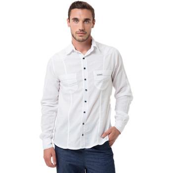 Vêtements Homme Chemises manches longues La Cotonniere CHEMISE ELVER Blanc