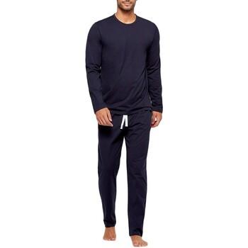 Vêtements Homme Pyjamas / Chemises de nuit Impetus Pyjama long uni homme en coton organique Bleu