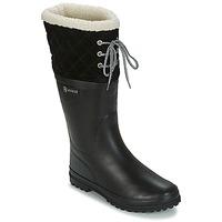Chaussures Femme Bottes de pluie Aigle POLKA GIBOULEE Noir