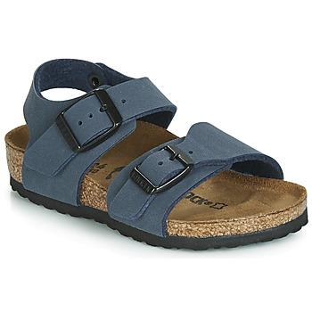 Schuhe Jungen Sandalen / Sandaletten Birkenstock NEW YORK Marineblau