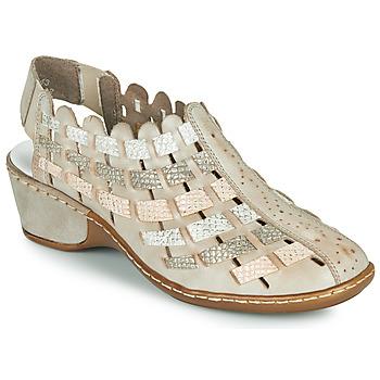Schuhe Damen Ankle Boots Rieker ROBERTO Silbrig