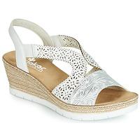 Chaussures Femme Sandales et Nu-pieds Rieker PASCALINE Blanc