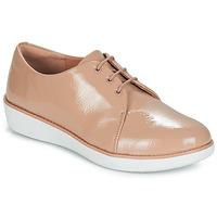 Schuhe Damen Derby-Schuhe FitFlop DERBY CRINKLE PATENT Maulwurf
