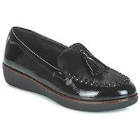 Schuhe Damen Slipper FitFlop PAIGE FAUX-PONY Schwarz