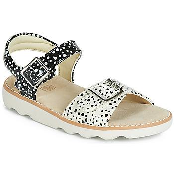 Chaussures Fille Sandales et Nu-pieds Clarks Crown Bloom K Noir