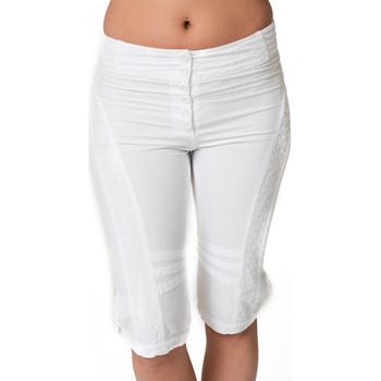 Vêtements Femme Pantacourts La Cotonniere CORSAIRE PANDORA Blanc