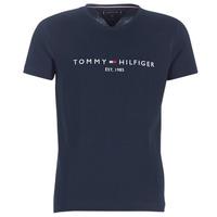 Vêtements Homme T-shirts manches courtes Tommy Hilfiger TOMMY FLAG HILFIGER TEE Marine