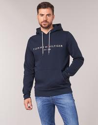 Kleidung Herren Sweatshirts Tommy Hilfiger TOMMY LOGO HOODY Marine