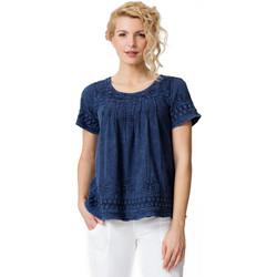 Vêtements Femme T-shirts manches courtes La Cotonniere TUNIQUE CAMELIA Bleu