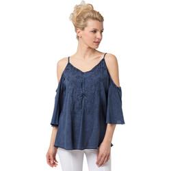 Vêtements Femme Tuniques La Cotonniere TUNIQUE FLORINE Bleu
