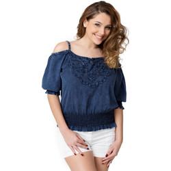 Vêtements Femme Tops / Blouses La Cotonniere HAUT LISETTE Bleu