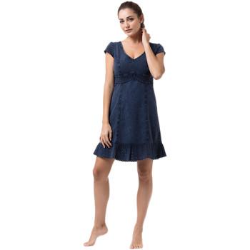 Vêtements Femme Robes courtes La Cotonniere ROBE COURTE TRIANA Bleu