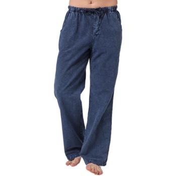 Vêtements Homme Jeans droit La Cotonniere PANTALON CLASSIQUE Bleu